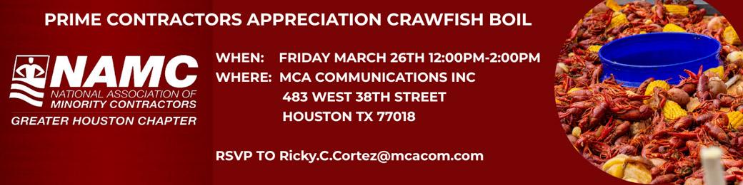 Prime Contractors Appreciation Crawfish Boil